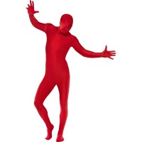 Second Skin Kostüm Rot Fasching Karneval JGA