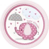 Elefant rosa Teller