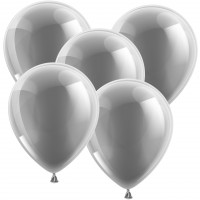 Luftballons - Rundballons ø 30cm Silber - Glänzend