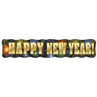 Silvester Partydeko Banner Happy New Year