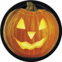 Halloween Partydeko Teller klein Kürbis