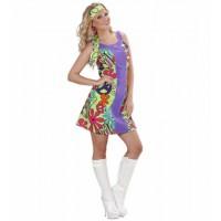 Kostüm Go Go Hippie Girl 70er Jahre Flower Power