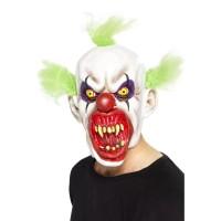 Halloween Maske Zombie Clown mit grünen Haaren Es