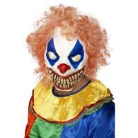 Halloween Masken Evil Clown Maske mit Bunten Haaren Zombie