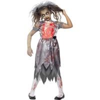 Halloween Zombie Bride Braut für Kinder