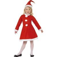 Miss Santa Girl Kostüm Kinder Weihnachten aus Samt