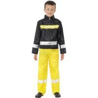 Kostüm Feuerwehr Feuerwehrmann Kinder Fasching Karneval