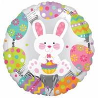 Ostern Oster Partydeko Folienballon Ballon Osterhase rund