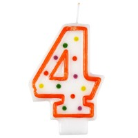 Geburtstag Kerze Zahl 4 Happy Birthday Partydeko