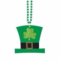 St. Patricks Day Partydeko Kette Grün mit Hut Anhänger