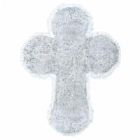 Konfirmation Taufe Tinsel Kreuz Silber Partydeko Babyparty Geburt
