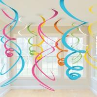 Hänge Swirl Dekoration bunt
