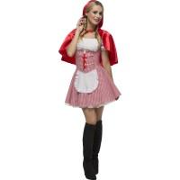 Rotkäppchen Kostüm Frauen Märchen Art.27043 Fasching Karneval