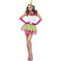 Kostüm Clown Set Frauen Fasching Karneval