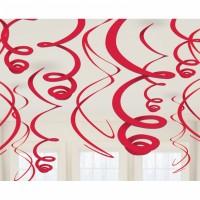 Hänge Swirl Dekoration Rot Partydeko Geburtstag