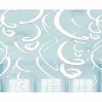 Hänge Swirl Dekoration Weiss Partydeko Geburtstag