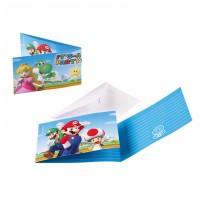 Super Mario Einladungskarten 8 Stück Partydeko Kindergeburtstag Luigi