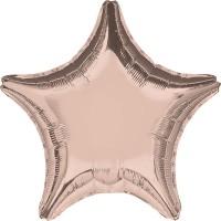 Folienballon Stern Rose Gold Art.36187 Partydeko Ballon Geburtstag Hellblau