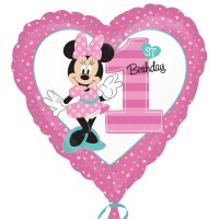 Minnie Mouse Baby Ballon 1. Geburtstag Disney Partydeko