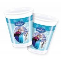 8 Plastikbecher Frozen Ice Skating Partydeko Kindergeburtstag Geburtstag Party Becher Disney