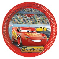 8 Pappteller Cars Partydeko Kindergeburtstag Geburtstag Party Teller Disney