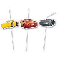 6 Strohalme Cars Kindergeburtstag Partydeko Geburtstag Disney