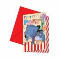 6 Einladungskarten Winnie Pooh Kindergeburtstag Partydeko Geburtstag Disney