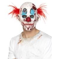 Halloween Maske Zombie Clown mit roten Haaren Art. 45021