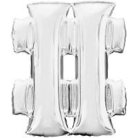 Folienballon XL Buchstabe & Silber Partydeko Geburtstag Ballon