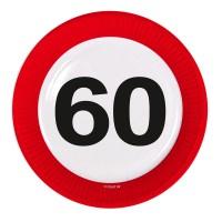 Verkehrsschild Teller Zahl 60