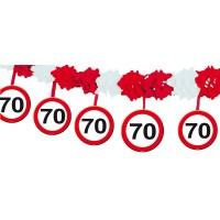 Verkehrsschild Banner 4m Zahl 70