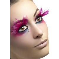 Wimpern Pink Art.24254 Fasching Karneval