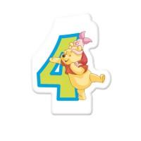 Winnie Pooh Kerze Zahl 4 Disney Partydeko Kindergeburtstag