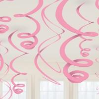 Hänge Swirl Dekoration Rosa Partydeko Geburtstag