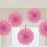 Hänge Dekoration Rosa Mini Fächer Partydeko Geburtstag