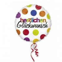 Folienballon Herzlichen Glückwunsch Partydeko Geburtstag Ballon