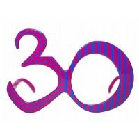 Brille Zahl 30 Partydeko 30. Geburtstag