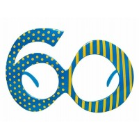 Brille Zahl 60 Partydeko Geburtstag