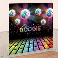 70er Disco Party Wandbild Partydeko Mottoparty Lets Boogie