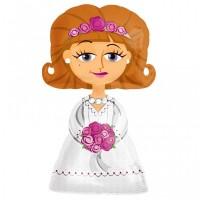 Hochzeit Airwalker Braut Partydeko Ballon Just Married