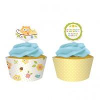 Eule Cupcake/Muffin Deko 12 Stück