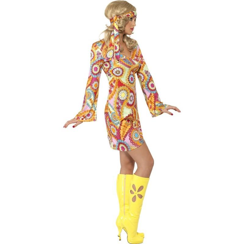 Damen Kostüm Hippie Kleid Karneval Fasching Fri