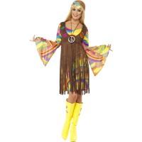 Hippie Kleid Groovy Lady Kostüm 70er Jahre