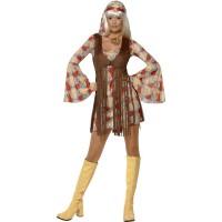 Hippie Kleid Groovy Baby Kostüm 70er Jahre
