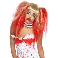 Halloween Perücke Blood Drip Blond