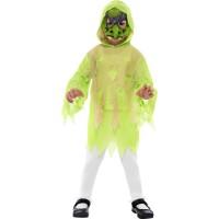 Halloween Kinderkostüm Hexen Set Grün