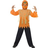 Halloween Kinderkostüm Kürbis Monster Set Orange