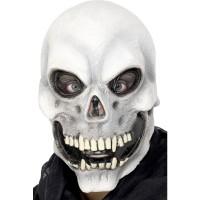 Halloween Totenkopf Maske weiss