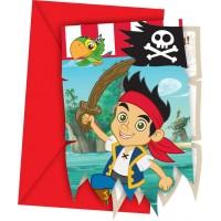 Jake and the Neverland Pirates Einladungskarten 6 Stück