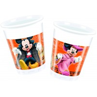 Halloween Mickey u. Minnie Mouse Becher Disney Partydeko